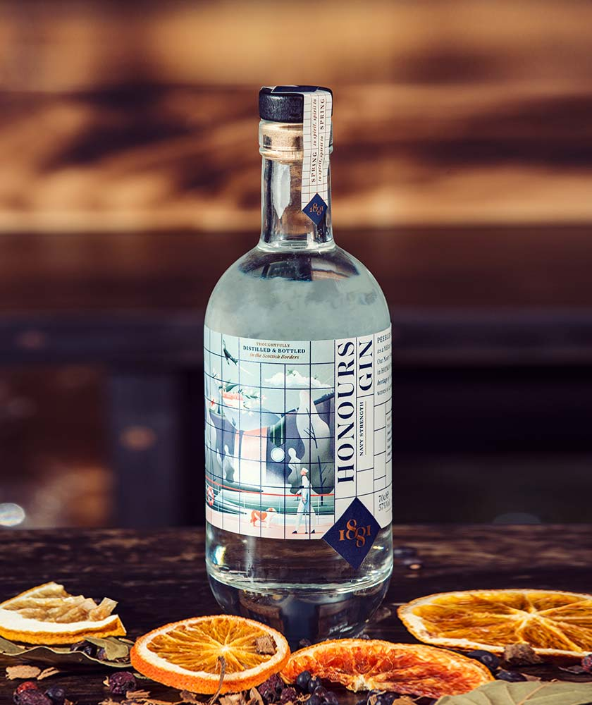 1881 Distillery Honours Navy Strength Gin Bottle