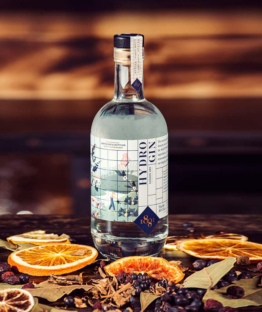 1881 Distillery Hydro London Dry Gin Bottle