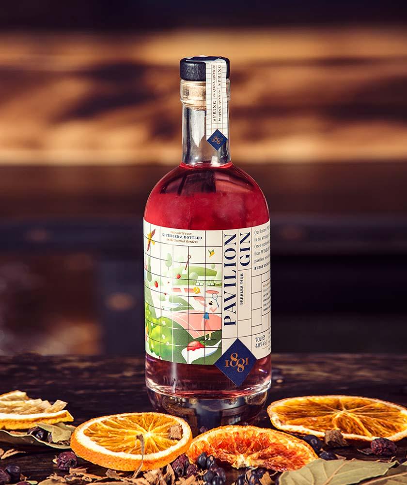 1881 Distillery Pavilion Peebles Pink Gin Bottle