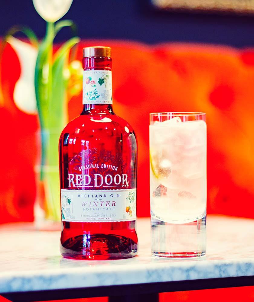 Red Door Winter Botanicals Gin Bottle