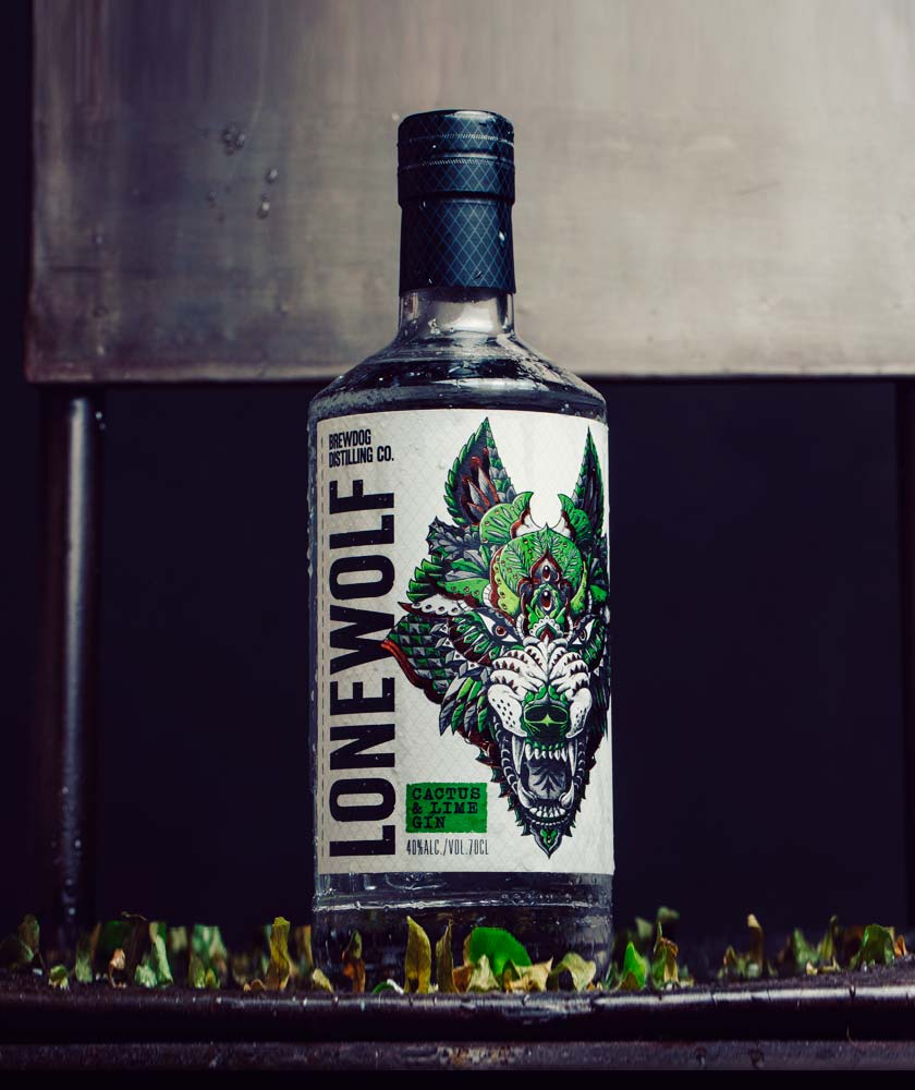 LoneWolf Cactus & Lime Gin Bottle