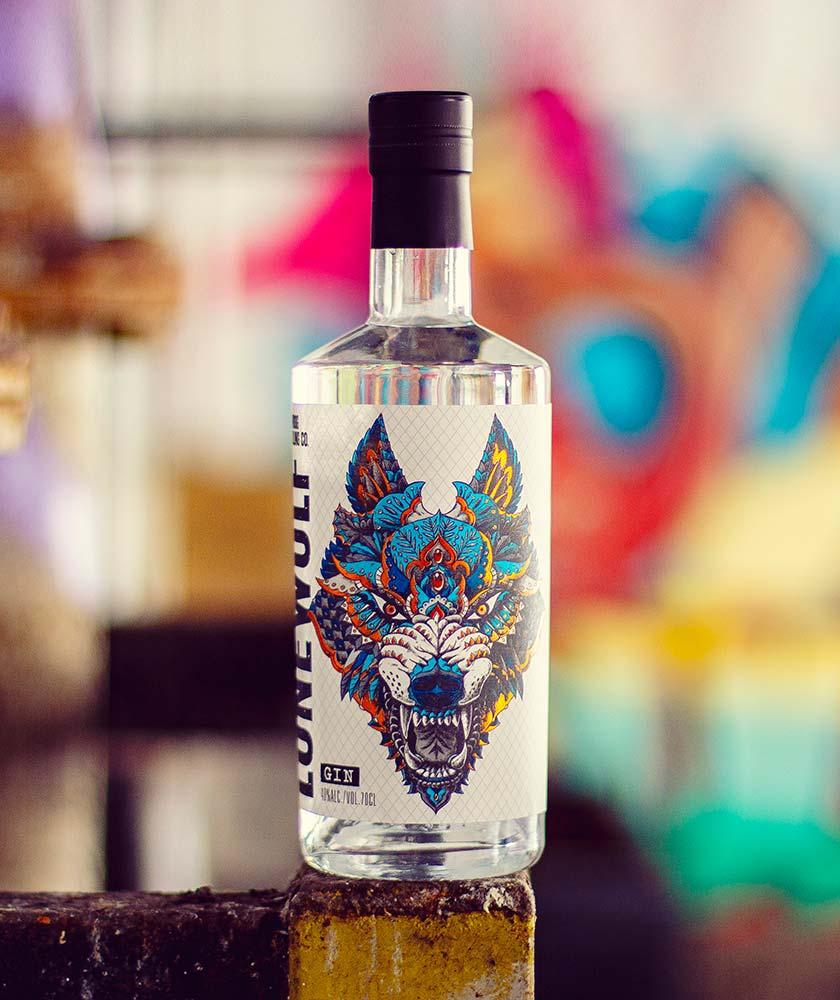 LoneWolf Gin Bottle