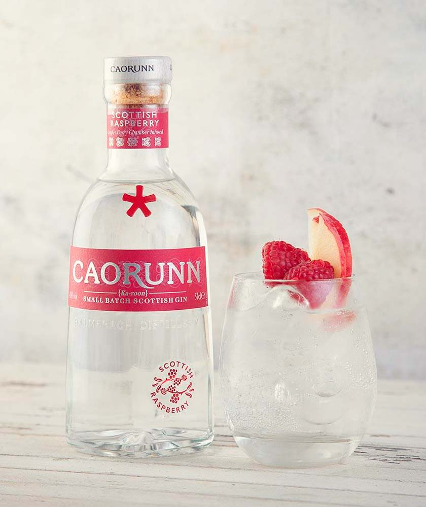 Caorunn Raspberry Gin Bottle