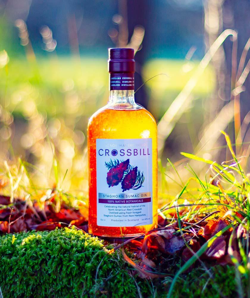 Crossbill Staghorn Sumac Gin Bottle