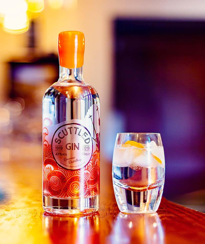 Scuttled Gin Bottle
