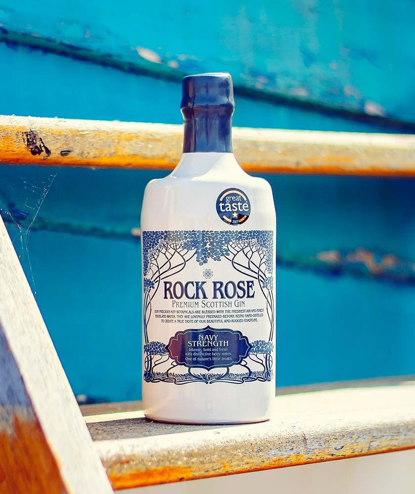 Rock Rose Navy Strength Gin Bottle