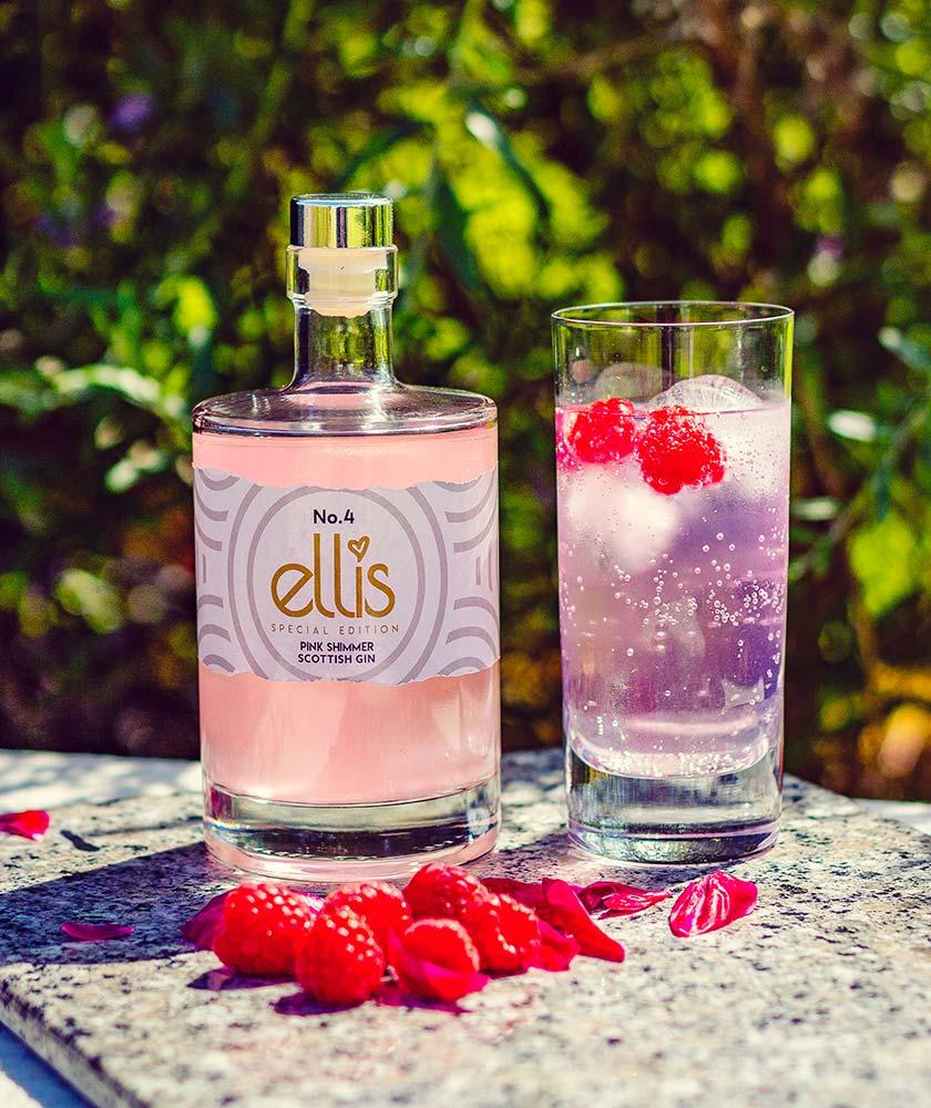 Ellis Pink Shimmer Gin Bottle