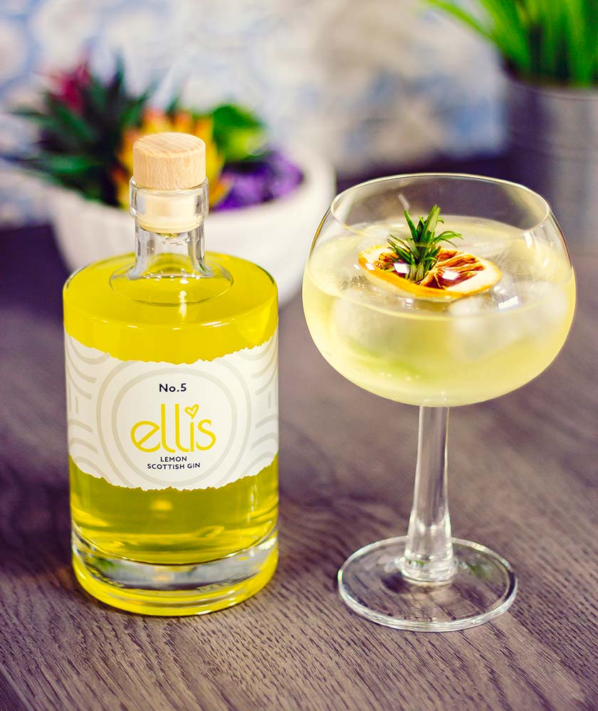 Ellis Lemon Gin Bottle