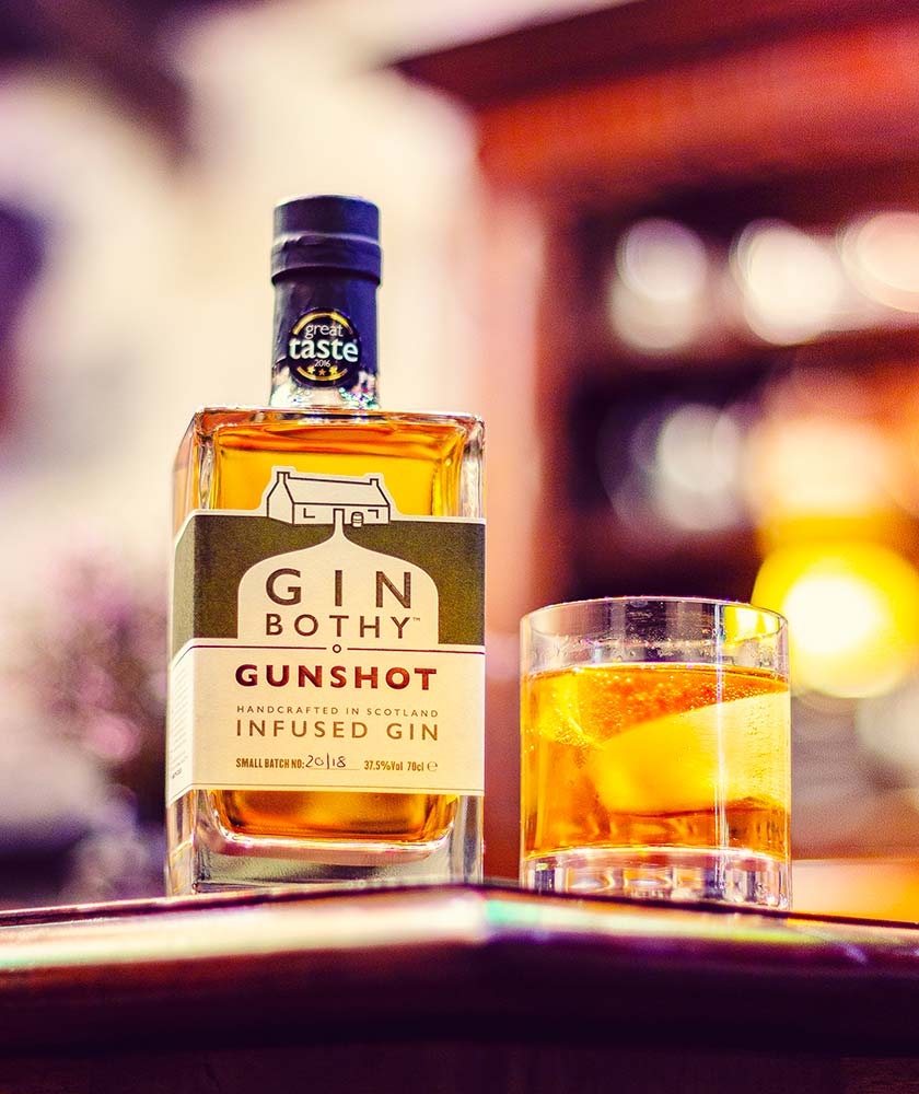 Gin Bothy Gunshot Gin Bottle