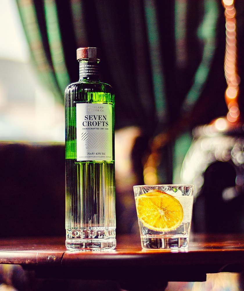 Seven Crofts Gin Bottle
