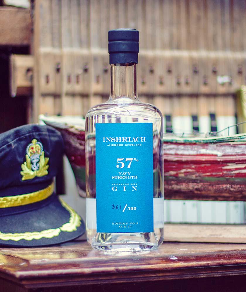 Inshriach Navy Strength Gin Bottle