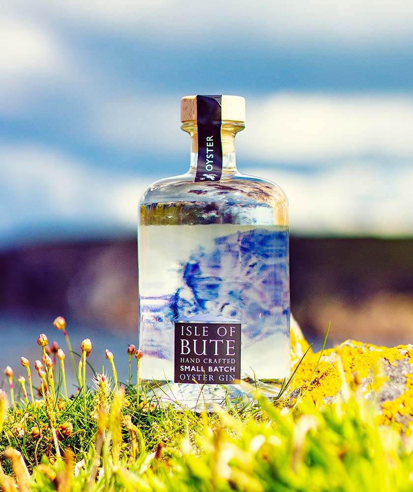 Isle of Bute Oyster Gin Bottle