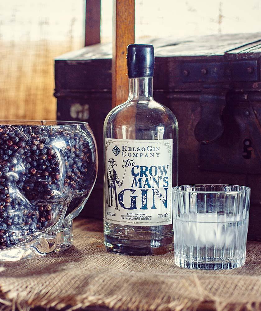 Kelso Crow Man's Gin Bottle