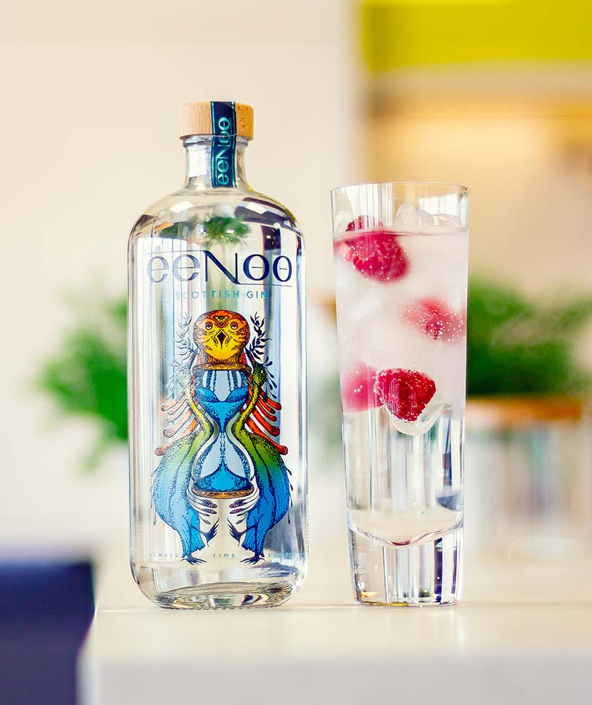 Lost Loch Spirits eeNoo Gin Bottle