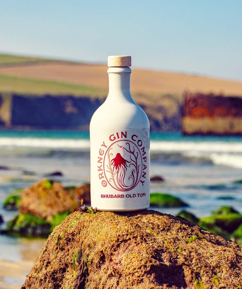 Rhubarb Old Tom Gin Bottle