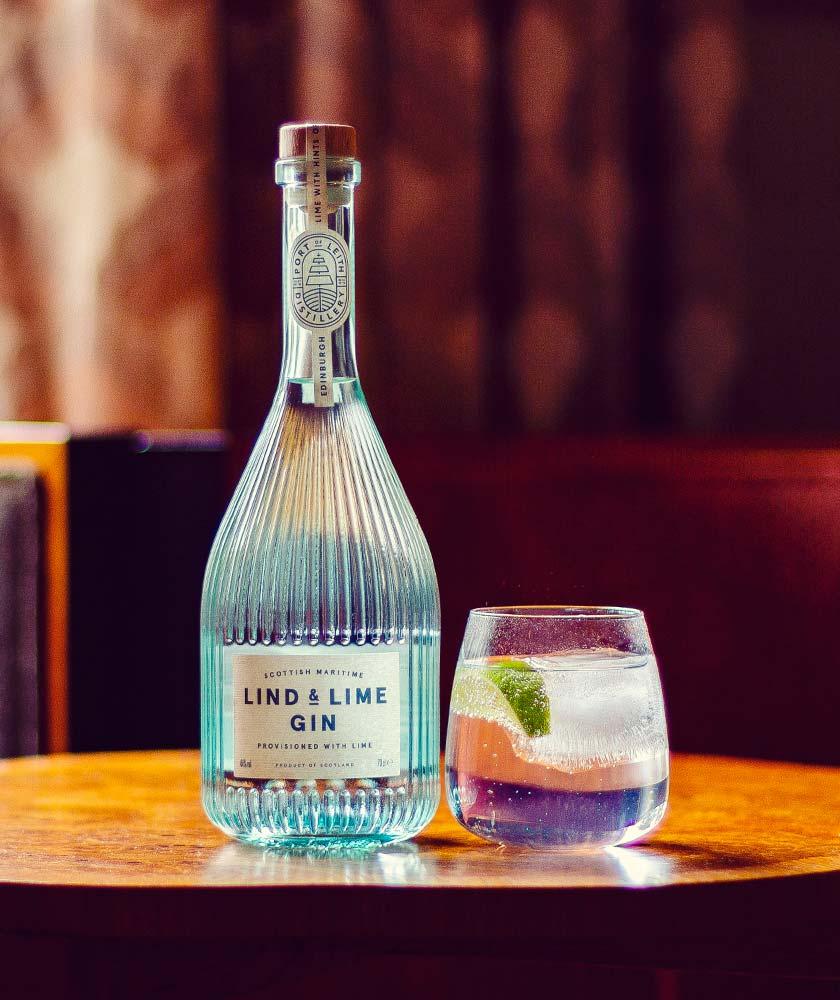 Lind & Lime Gin Bottle