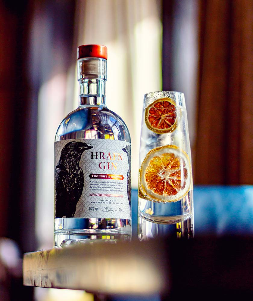 Hrafn Thought & Memory Gin Bottle