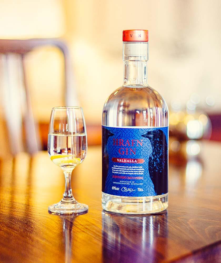 Hrafn Valhalla Gin Bottle