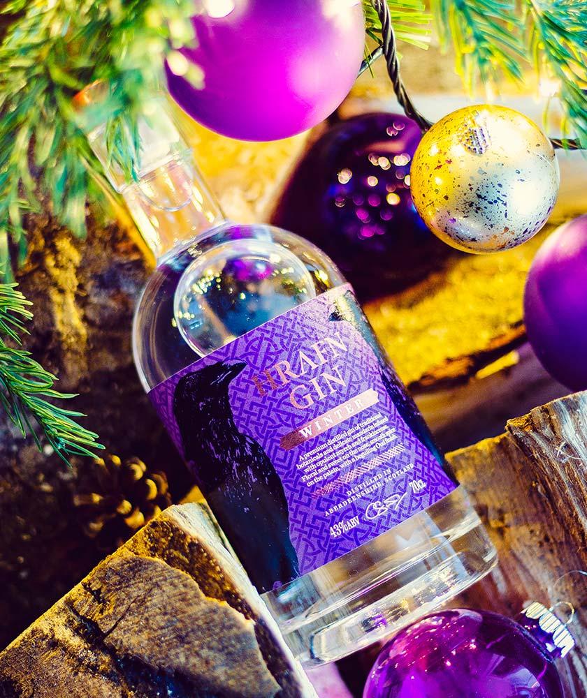 Hrafn Winter Gin Bottle
