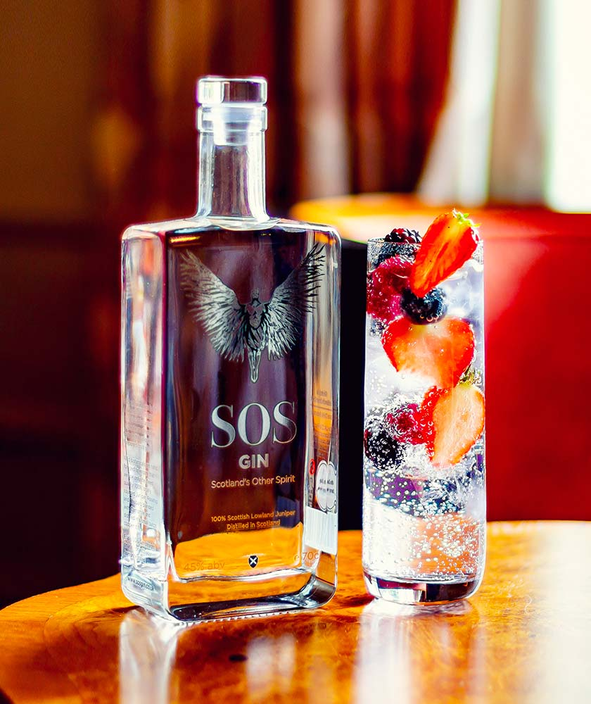 SOS Gin Bottle