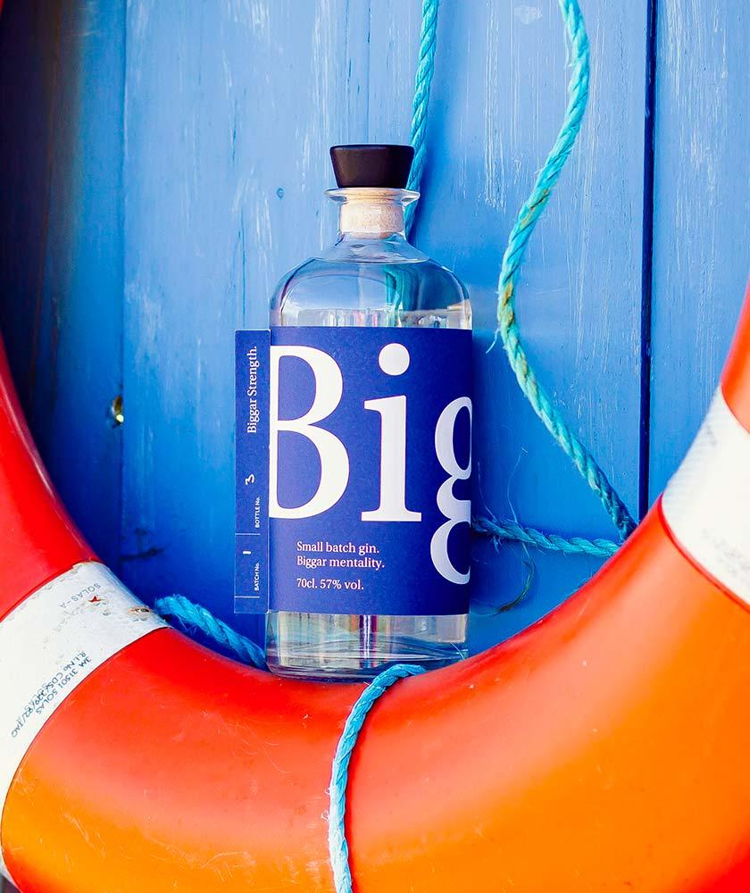 Biggar Navy Strength Gin Bottle