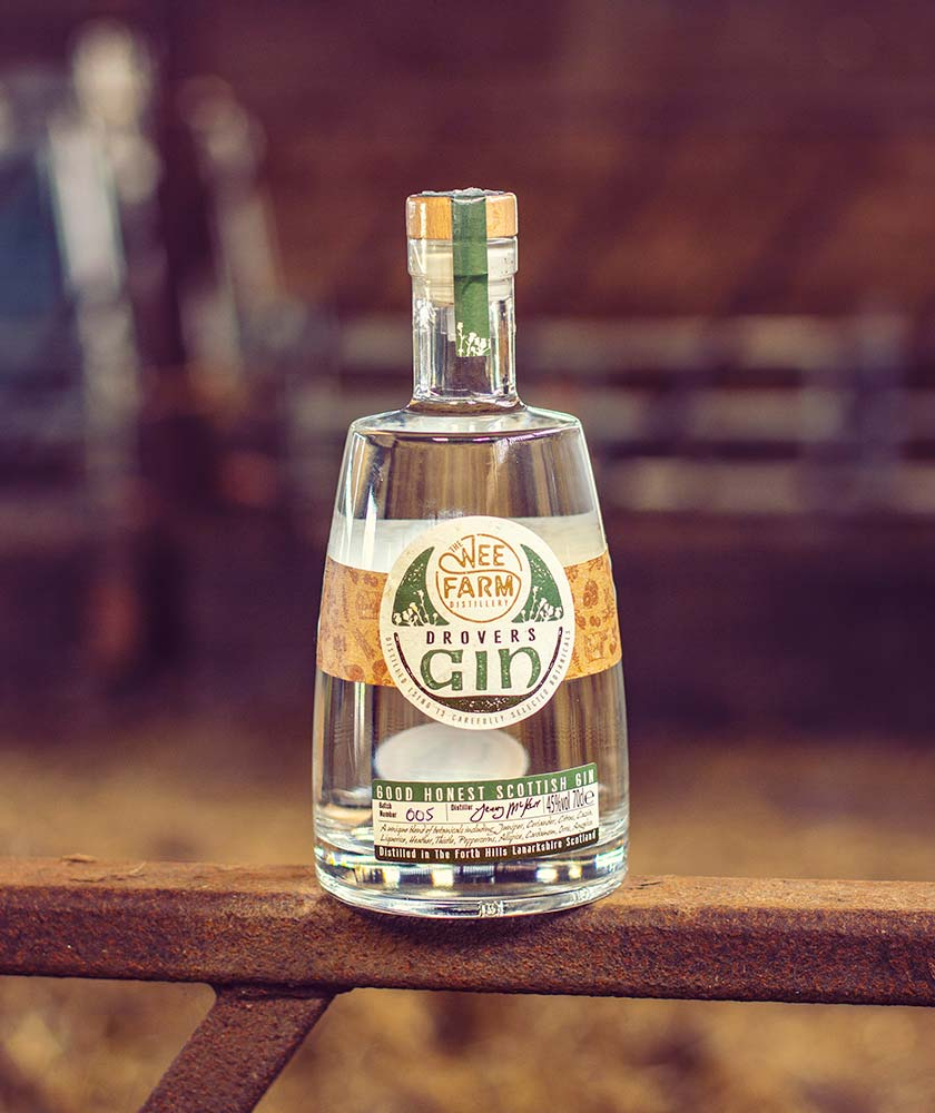 Wee Farm Drovers Gin Bottle