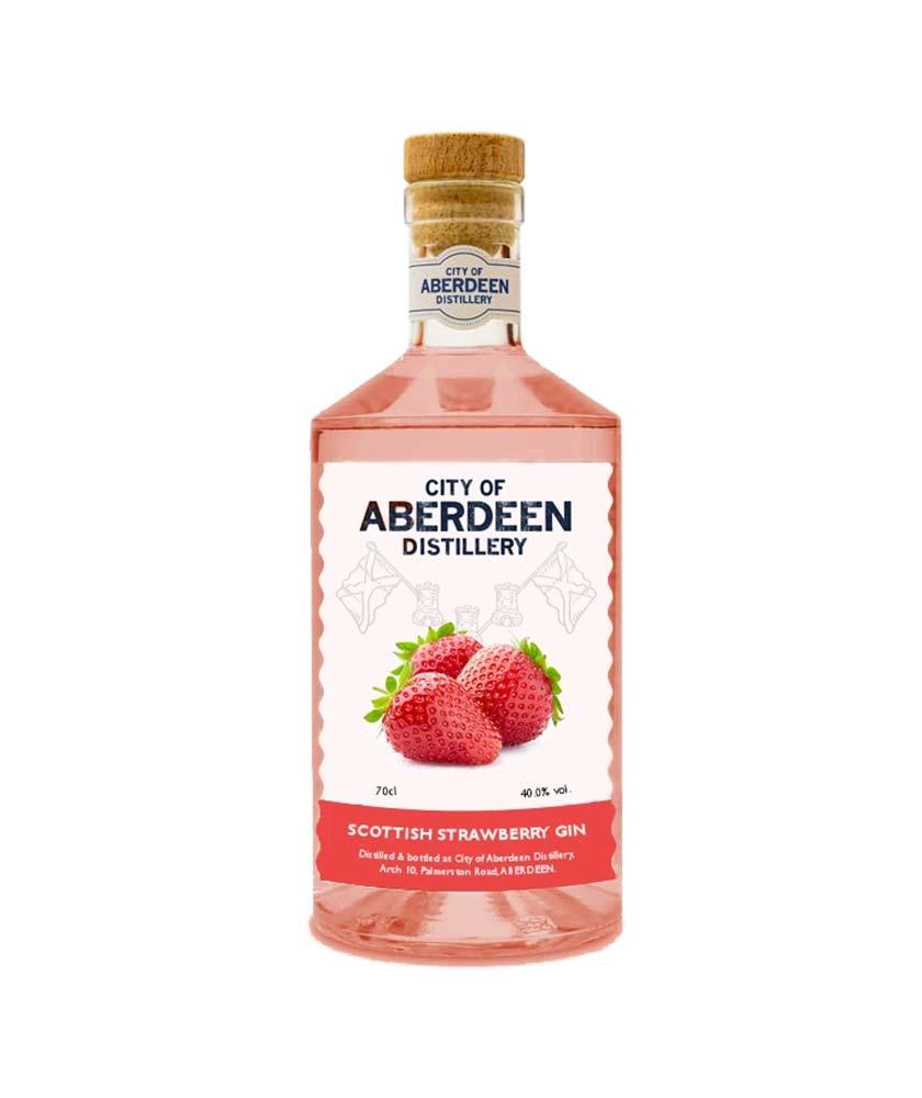 City of Aberdeen Distillery Scottish Strawberry Gin Bottle