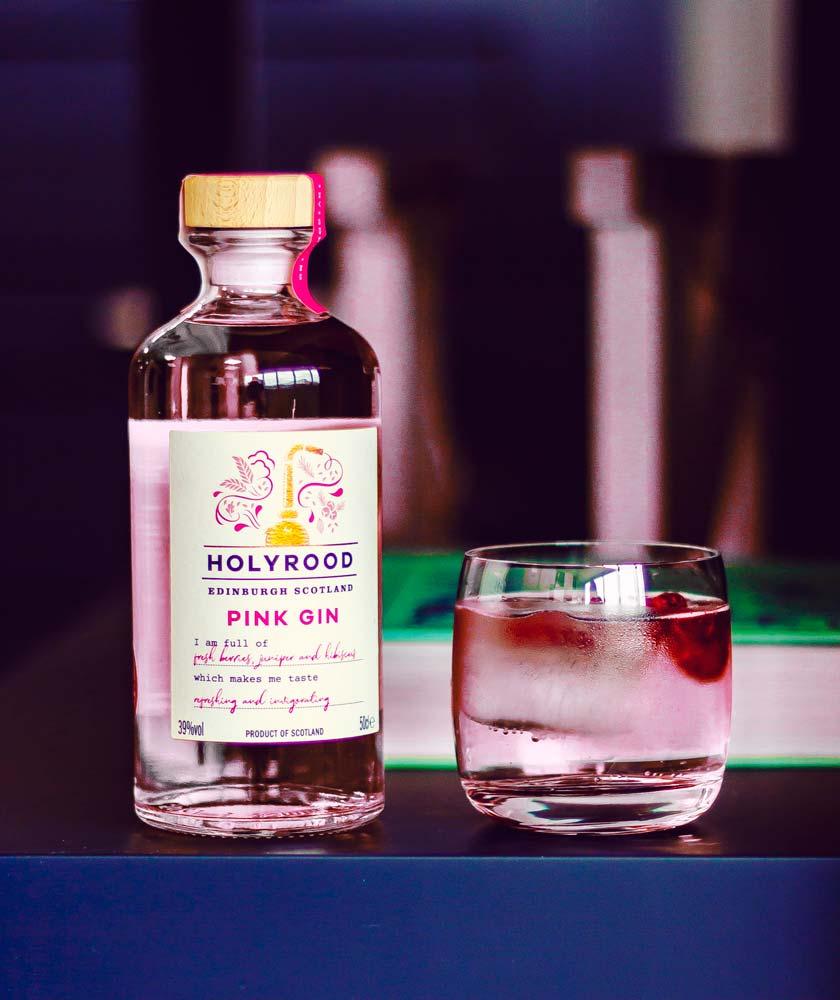 Holyrood Pink Gin Bottle