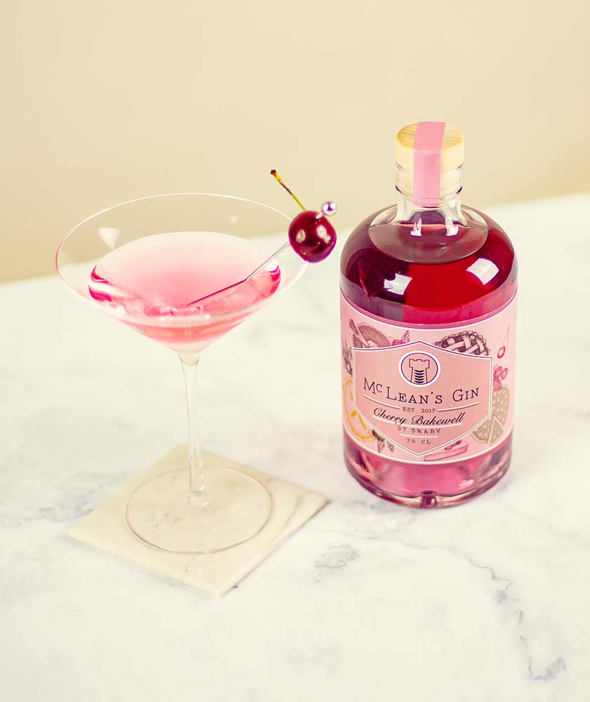 McLean's Cherry Bakewell Gin Bottle