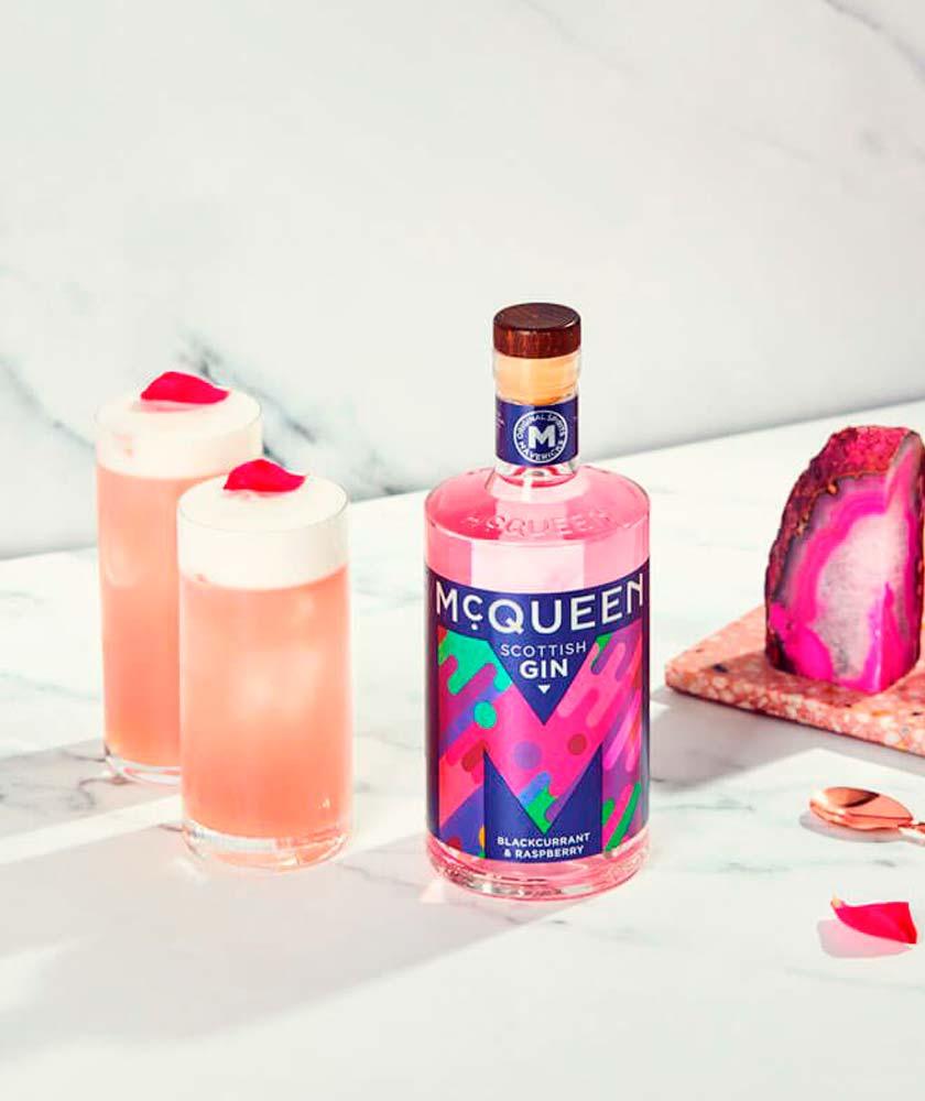 McQueen Blackcurrant & Raspberry Gin Bottle