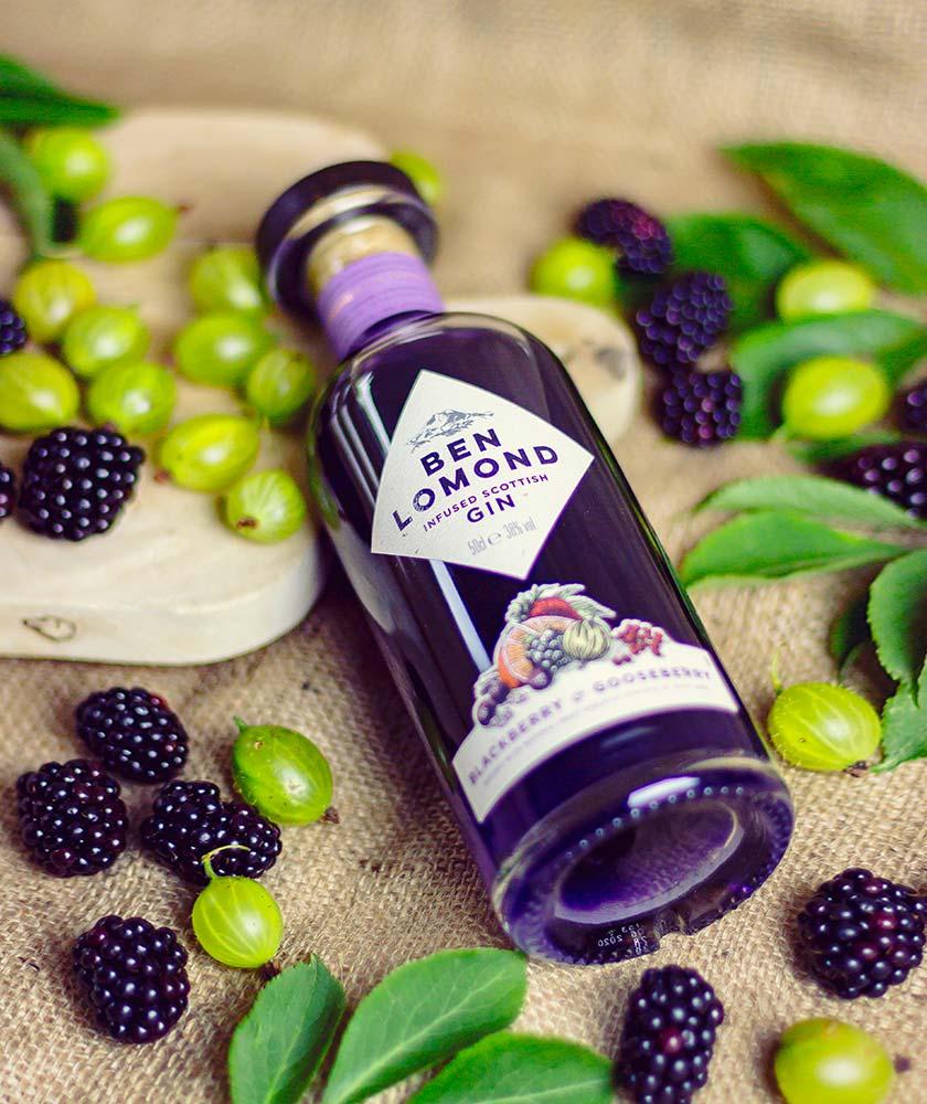 Ben Lomond Blackberry & Gooseberry Gin Bottle